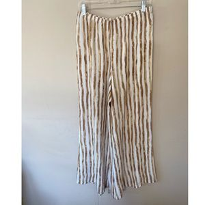 Zac & Rachel Striped Wide Leg Pants Size Large